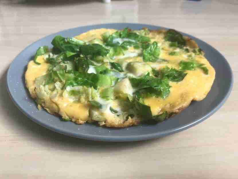 Brussels Sprouts Omelette