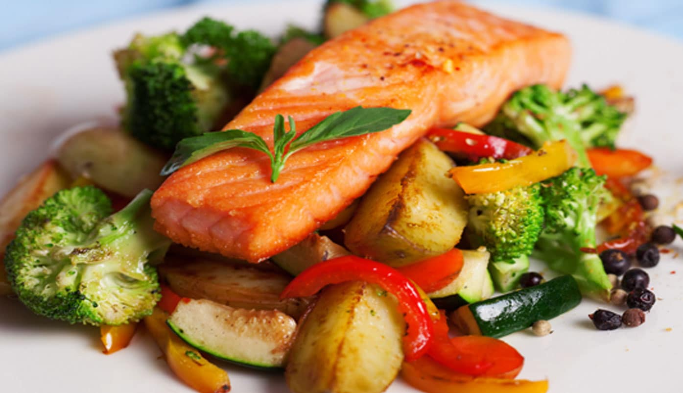 Salmon & Roasted Vegetables – Alex Fisher Health